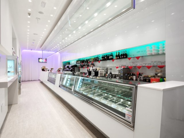 Bar Blanco Progetto Arredamenti Su Misura Banco Gelateria