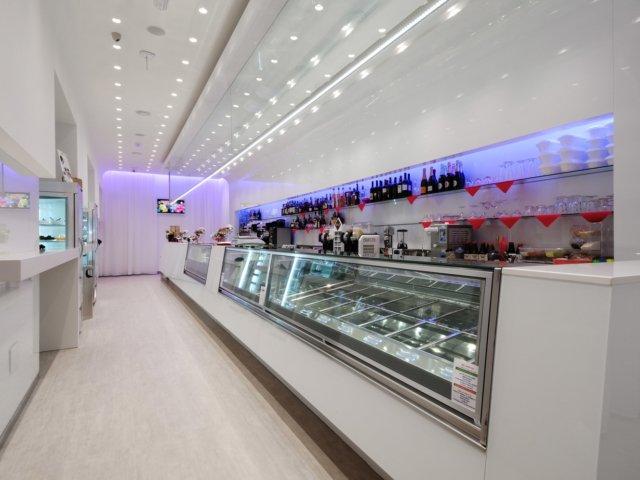 Bar Blanco Progetto Arredamenti Su Misura Luci